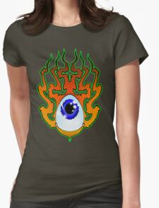 Flamin' Eye Womens Fitted T-Shirt
