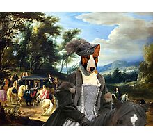 Bull Terrier Art - Philippe Francois d'Arenberg meeting Troops Photographic Print