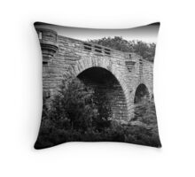 Duck Brook Bridge Throw Pillow