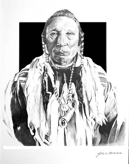 Graphite Excercise Indian Chief by J.D. Bowman