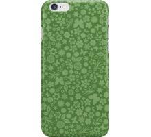 Flower & Butterfly Pattern - Green iPhone Case/Skin