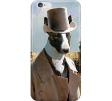 Bull Terrier Art - Trafalgar Square iPhone Case/Skin