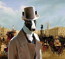Bull Terrier Art - Trafalgar Square by NobilityDogs