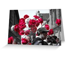 Red on the Royal Mile Greeting Card