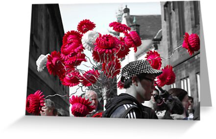 Red on the Royal Mile by daniellesalmon