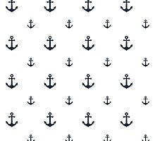 Navy Anchors by ImageNugget