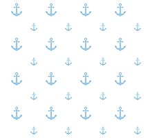 Light-Blue Anchors Photographic Print