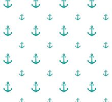 Teal Anchors by ImageNugget