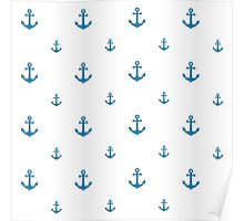 Blue Anchors Poster