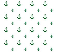 Green Anchors Photographic Print