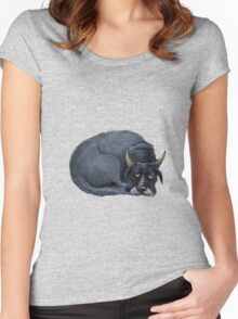 Blue Dog  Women's Fitted Scoop T-Shirt