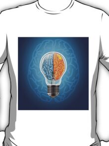 Symbol of idea with the brain shape left and right T-Shirt