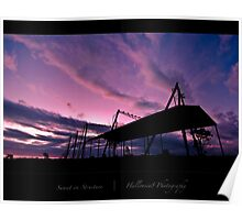 Sunset on Structure Poster