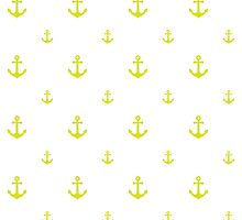 Chartreuse Anchors by ImageNugget