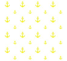 Yellow Anchors Photographic Print