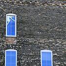Three Blue Windows by Sara Johnson