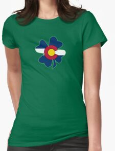 Lucky to be in Colorado Womens Fitted T-Shirt