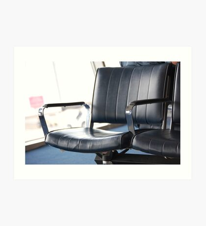 Lonely airport chair  Art Print