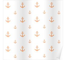 Peach Anchors Poster
