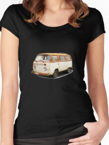 Old vw van Women's Fitted Scoop T-Shirt