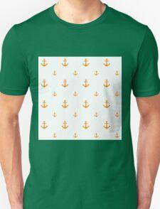 Orange Anchors Unisex T-Shirt