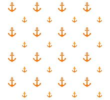 Orange Anchors Photographic Print