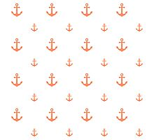 Coral Anchors Photographic Print