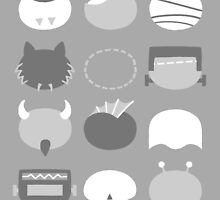Minimalist B-Movie Monsters by chayground