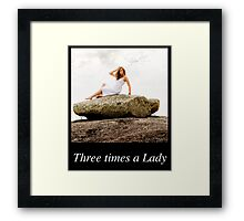 Once.. Twice... Three times a Lady Calendar Cover V1 Framed Print