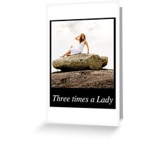 Once.. Twice... Three times a Lady Calendar Cover V1 Greeting Card