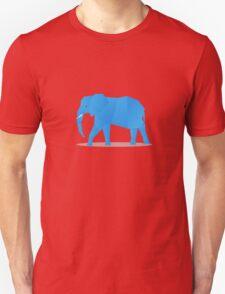 Blue origami elephant T-Shirt