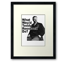 What Would Theodore Roosevelt Do? Framed Print