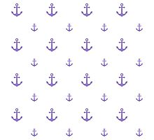 Lavander Anchors Photographic Print