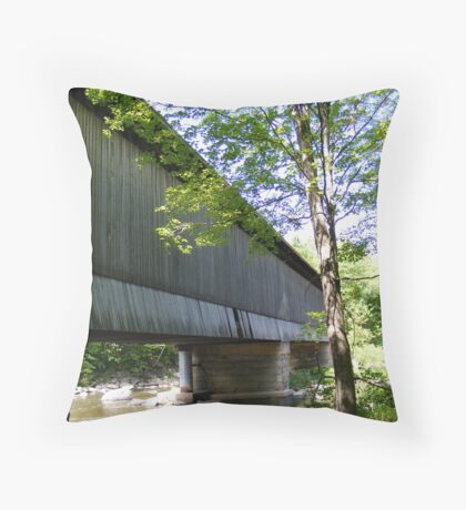 Under one of the few covered railway bridges in New Hampshire.  Throw Pillow