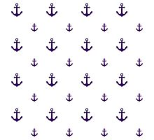 Purple Anchors Photographic Print