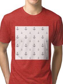 Cool-Gray Anchors Tri-blend T-Shirt