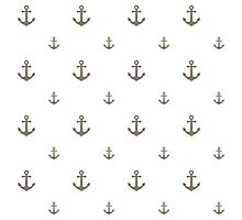 Warm-Gray Anchors Photographic Print