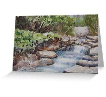 River Rush Greeting Card