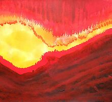 Wildfire original painting by CrowRisingMedia