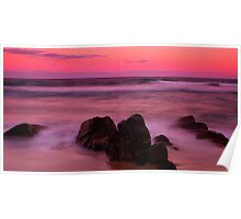Stoney Beach Sunset Poster
