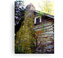 Wood Shack Stone Chimney Canvas Print