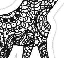 Printed Giraffe Sticker
