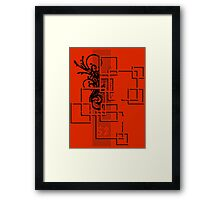Warpe Framed Print