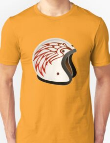 vintage race helmet with fire wings on the side T-Shirt