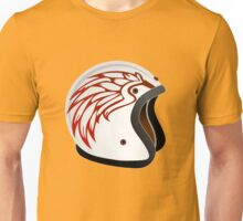 vintage race helmet with fire wings on the side Unisex T-Shirt