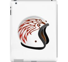 vintage race helmet with fire wings on the side iPad Case/Skin