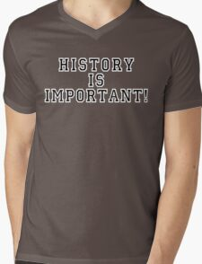 History Is Important! Mens V-Neck T-Shirt