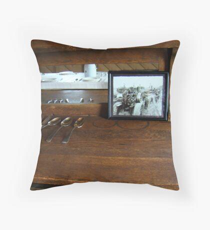 Chow Wagon Throw Pillow