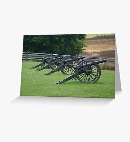 Civil War Cannon Greeting Card
