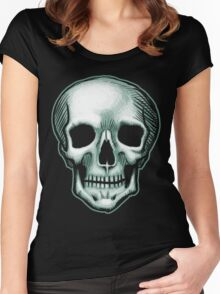 The Best Skull in the World, EVER! (dark) Women's Fitted Scoop T-Shirt
